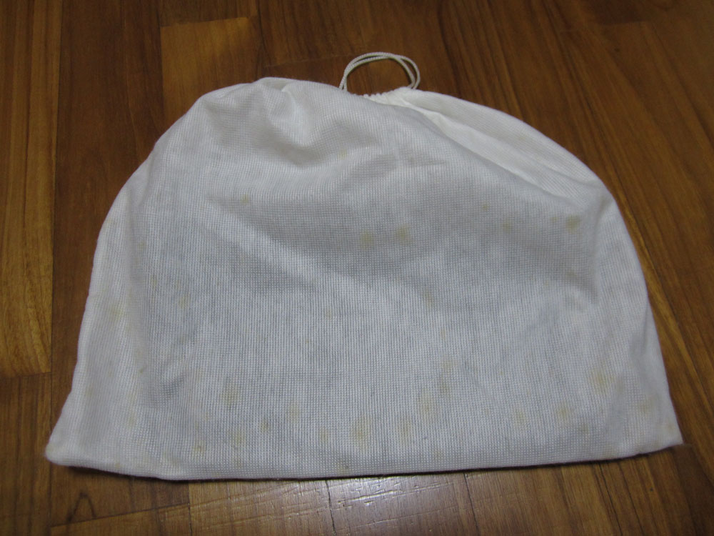 White Dust Bag Mildew