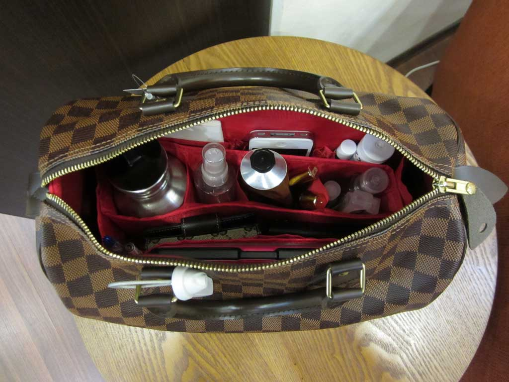8e39741b930 Purse Organizer Insert for Louis Vuitton Speedy 30 Damier Ebene ...