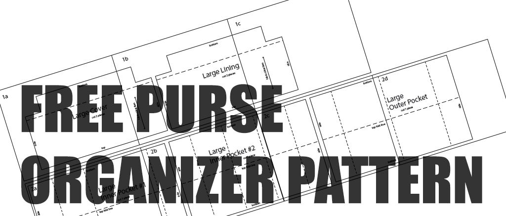Free Download of Purse Organizer Insert Sewing Pattern | CloverSac
