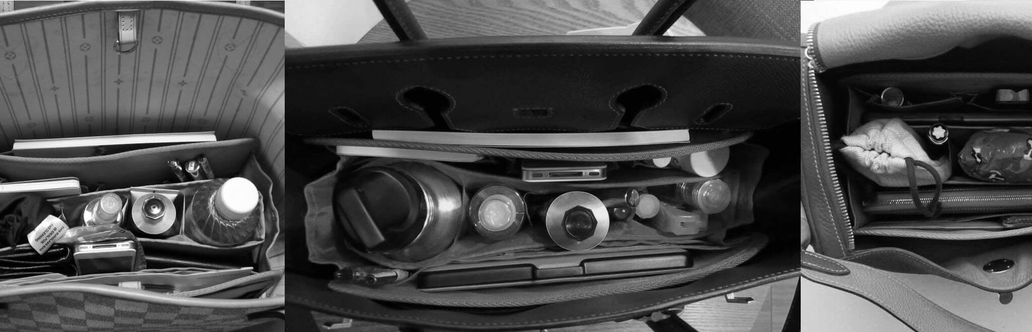 85c5c1b9234 CloverSac   Purse Organizer Insert, Base Shaper, Bag Organiser